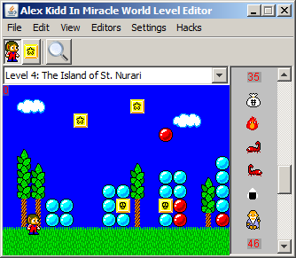 KiddEd - Alex Kidd in Miracle World Editor - Emulicious